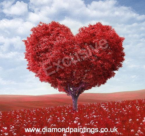 Red Heart Tree 20x20 cm