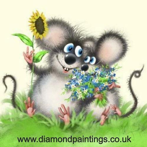 Flower Mice 30*30 Round