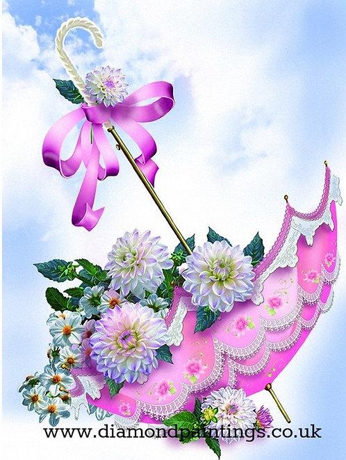 Pink Flower Umbrella 20 x 25 cm