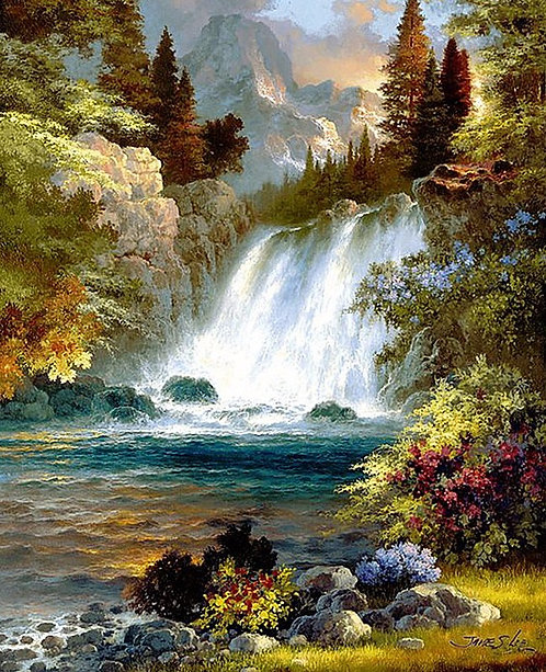 Forest Waterfall 20*25