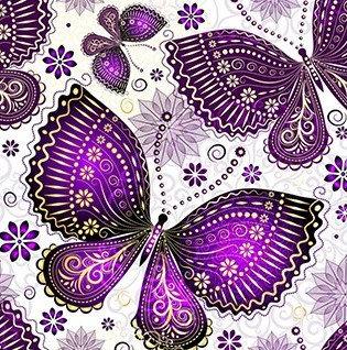 Purple Butterfly's 35*35