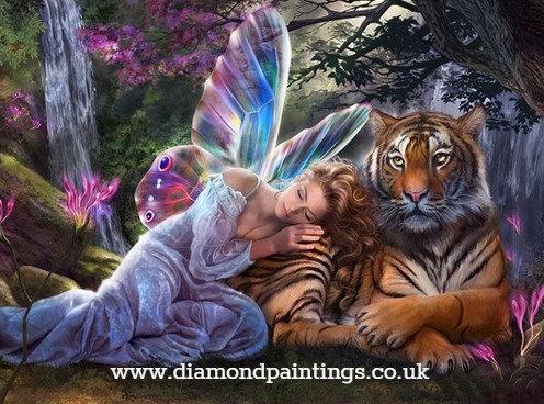 Fairy & Tiger 40x30 cm