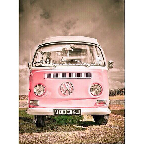Pink VW Campervan