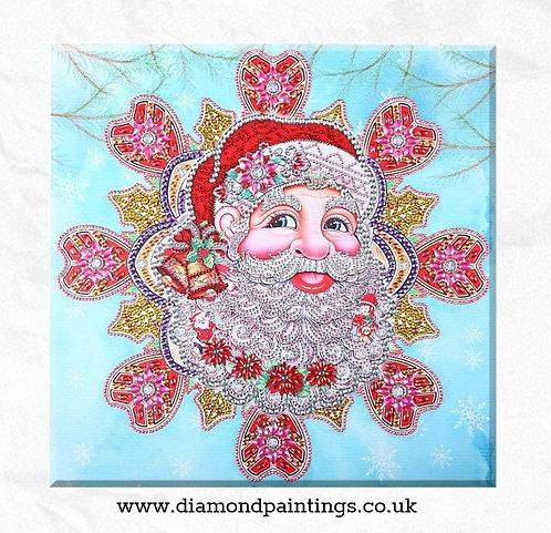 Santa with Special Shaped Diamonds  47x47cm