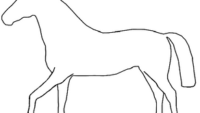 Colouring Pages: Horse