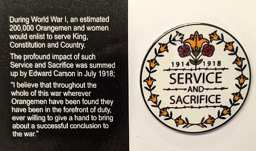Service and Sacrifice Badge