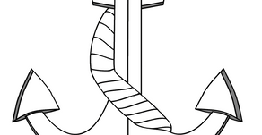 Colouring Pages: Ship's Anchor