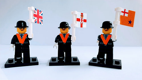 Nanoblock Orangeman Figure with Flag