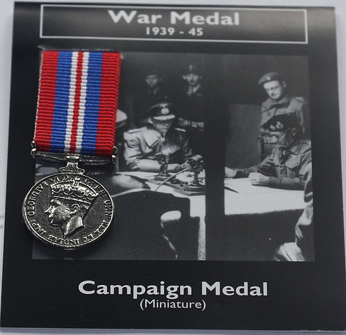 Miniature 1939-45 Campaign Medal
