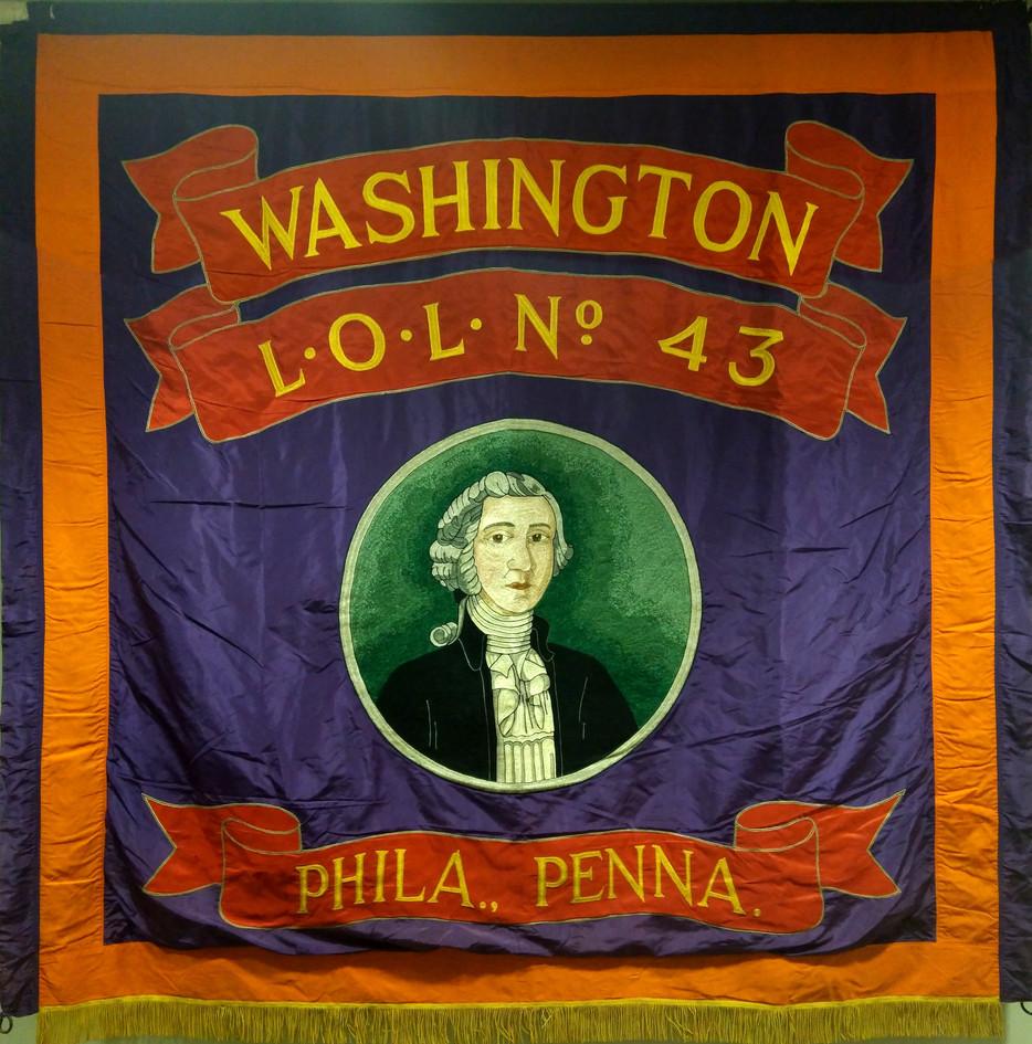 Washington LOL 43 USA Flag banner croppe