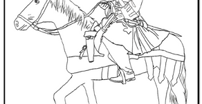 Colouring Pages: Jacobite Soldier