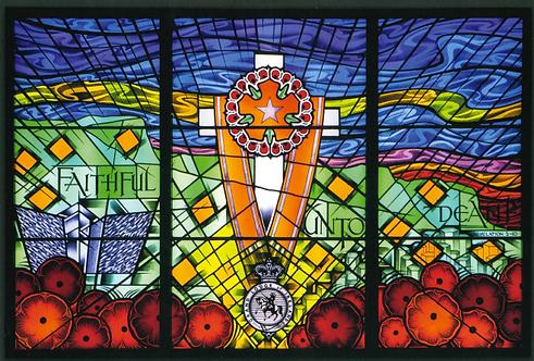 Postcard - Memorial Window