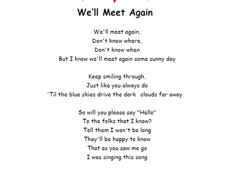 Sing-a-long: We'll Meet Again
