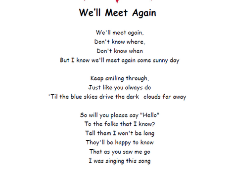 Sing-a-long: We'll Meet Again