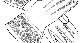 Colouring Pages: Gauntlets