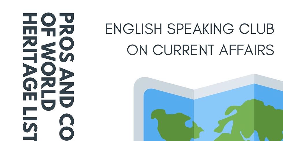 【オンライン講座】English Speaking Club on Current Affairs ONLINE