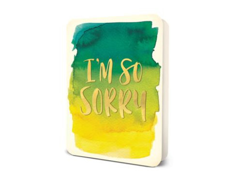 I'm so sorry - card