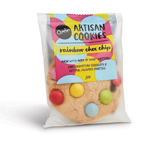 Rainbow Choc Chip Artisan Cookie