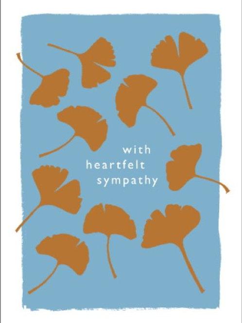 With heartfelt sympathy