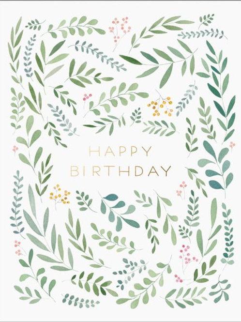 Happy Birthday - Greenery