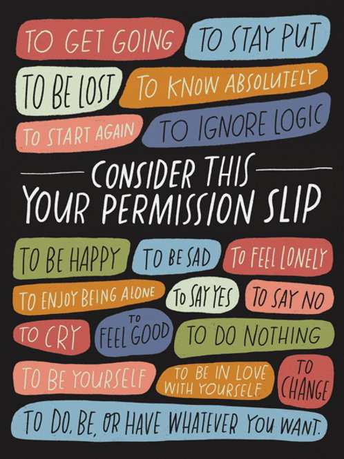 Permission to feel how you feel comfort card