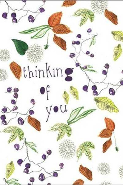 Thinking of you - Autumn card