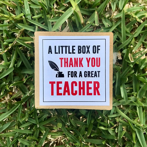 A Little Box Of Thank You - Teacher