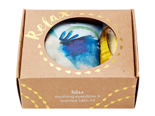 Relax gift pack - eyepillow and bath oil