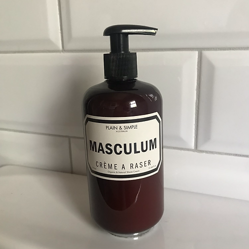 Men's Organic Shaving Cream - Plain And Simple