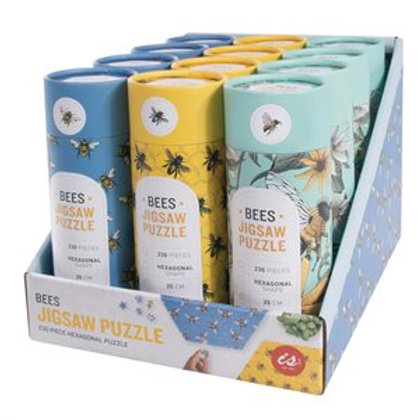 Bees Hexagon Jigsaw puzzle