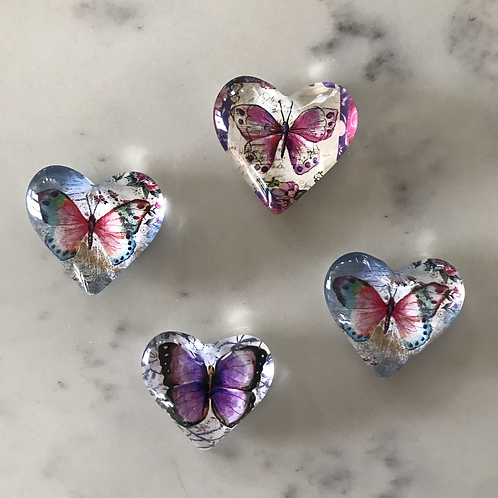 Memory  Butterfly Heart Magnets