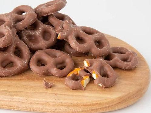 Premium VEGAN  Mylk Chocolate Covered Pretzels
