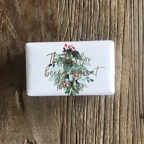 Natural Wrapped Soap Bar - Teacher