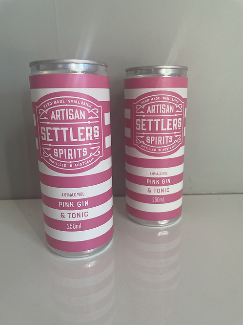Artisan Settlers  Pink Gin And Tonic