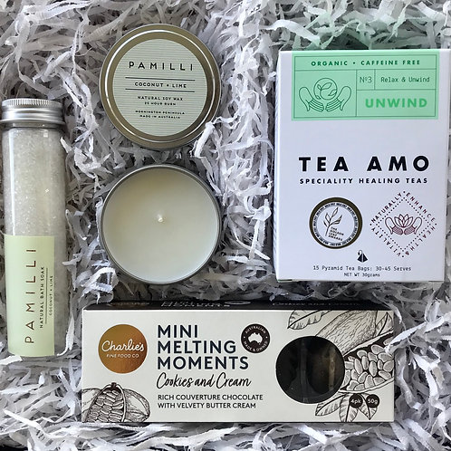 Soak, Snack And Unwind Gift Box