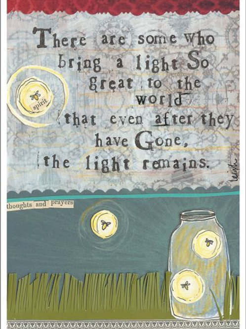 The Light Remains - Sympathy Card