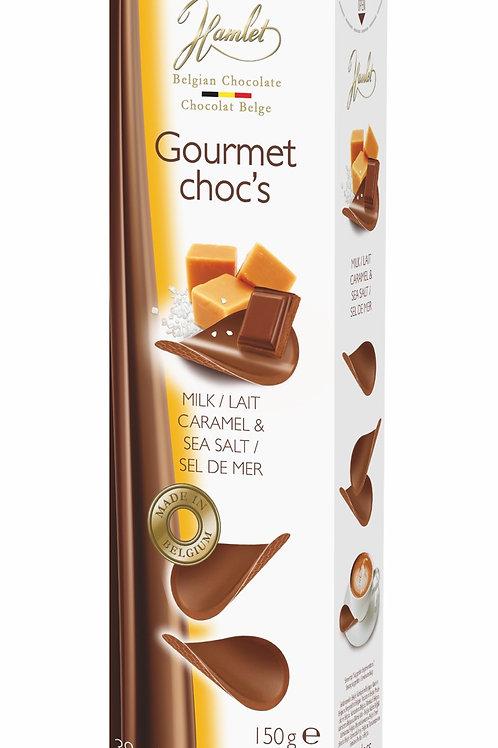 Hamlet Gourmet Choc Thins - Milk And Caramel Sea Salt