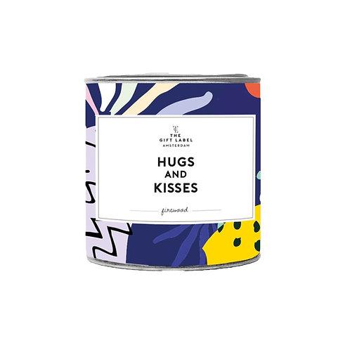 Hugs And Kisses Tin Candle