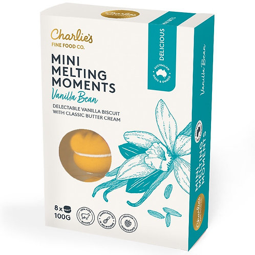 Vanilla Bean Mini Melting Moments 8 pack