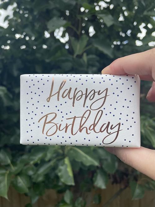Happy Birthday Soap Bar