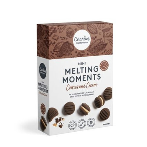 Cookies And Cream Mini Melting Moments 8 pack