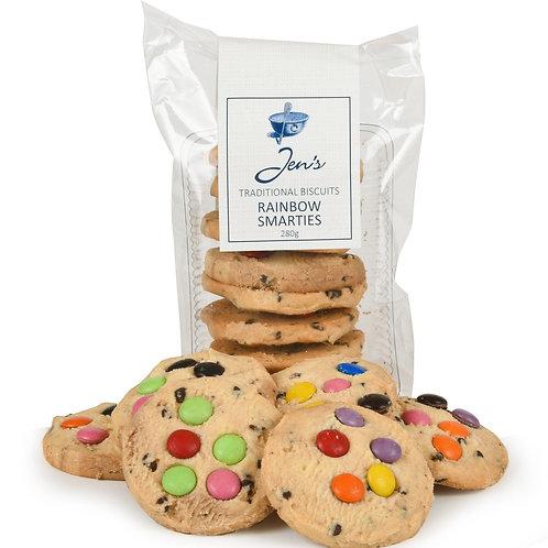 Jen's Rainbow Choc Chip Cookies