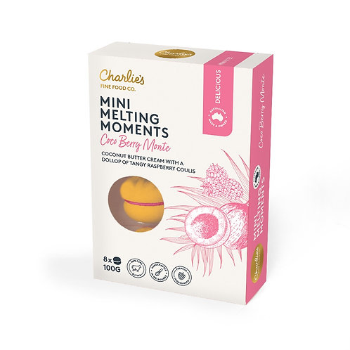 Coco Berry Monte Mini Melting Moments 8 pack