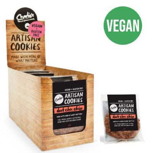 VEGAN + GLUTEN Free dark choc chip cookie