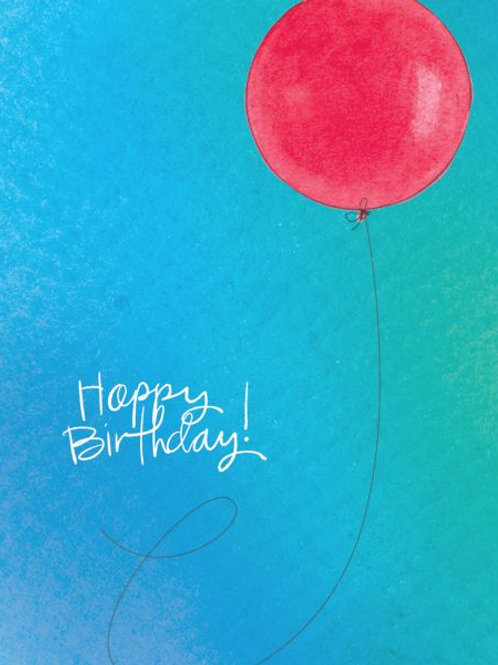 Happy Birthday - Balloon Card
