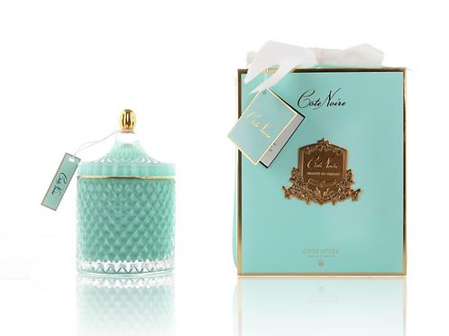 Cote Noire - Grand Art Deco Tiffany Blue Candle