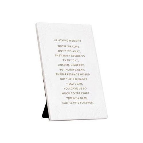 In Loving Memory Keepsake Ceramic Quote