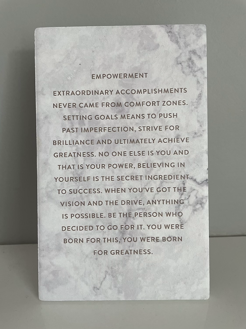 Be Empowered Plaque Life Quote