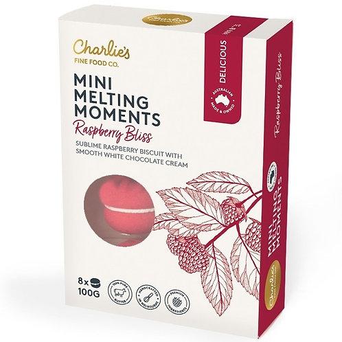 Raspberry Bliss Mini Melting Moments 8 pack