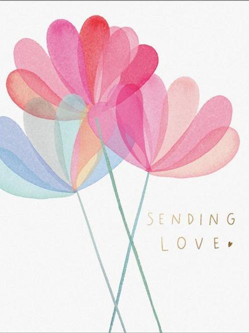 Sending Love Flower Card